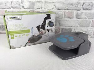 Zoofari Step On Dog Water Fountain 3 Interchangable Nozzles Boxed Pre Owned