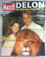 AFFICHE Une de PARIS MATCH  - Alain DELON et sa fille Anouchka
