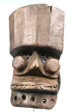 Art Africain Arts Premiers - Ancien Masque de Portage Grebo - Métal & Rotin +++