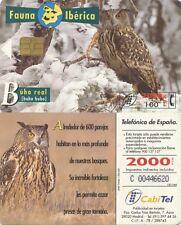 2000+100 PTA. Fauna Ibérica. Cabitel. Búho real (bubo bubo).