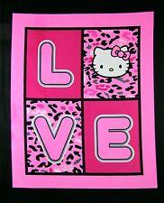 HELLO KITTY CHEETAH LOVE PANEL FABRIC - PINK CP47515