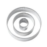Stampo cerchio taglierina del biscotto per festa, set di 3 pezzi C5I5