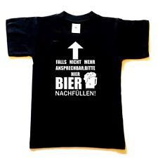 Sprüche  T-Shirt bedruckt  HIER BIER EINFÜLLEN (schwarz) Spruchshirt