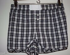 NWT GapBody Womens Navy Blue Plum White Vintage Plaid PJs Shorts Cotton XL NEW