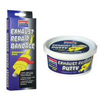 GRANVILLE EXHAUST SILENCER PIPE REPAIR PASTE PUTTY 250g + BANDAGE BOND WRAP KIT