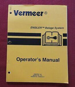 GENUINE VERMEER ENSILER BALAGE BALER BALING TIE WRAP SYSTEM OPERATORS MANUAL