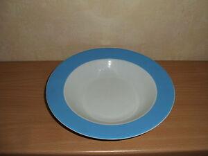 """blauer Rand /""""   zur Auswahl Points Grindley Staffordshire /"""" Punkte"""