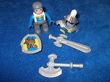 Lego Duplo Ritterburg Ritter Rüstung Axt Schwert Schild 4785 4777 4779