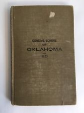 """Book """"General Scheme of  Oklahoma, 1923""""  Post Offices With Their Counties RR"""