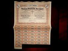 Banco Francés  de Chile ,Share certificate 1917  VG+