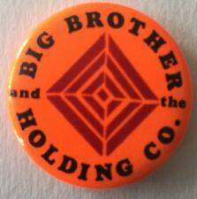 1960's Big Brother And The Holding Co Blaze Orange Pin