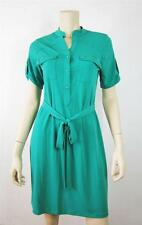 Fenn Wright Mansion Formal Solid Green Polyester Spandex Shirt Dress Size 6