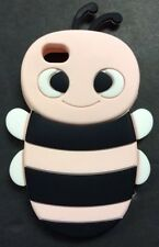 ADORABLE ANIMATED 3D BUMBLE BEE THICK SILICONE CASE FOR IPHONE 4/4S IN BABY PINK