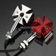 4X Red Lens Maltese Cross Turn Signal Light For Honda Yamaha Suzuki Harely US