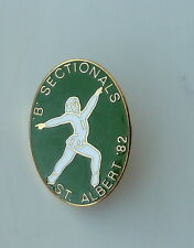 1982 B Sectionals St. Albert 82 Vintage Canada Figure Skating Hat Pin