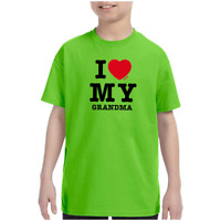 Youth Kids Gildan T-shirt I Love My Grandma k-432