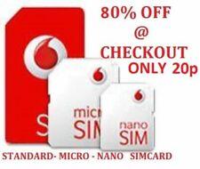 Vodafone Triple SIM Card Pay As You Go PAYG - Includes Standard Micro Nano Sim