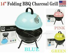 """14"""" Folding BBQ Charcoal Grill/ Convenient, Portable size BBQ Grill *US SELLER*"""