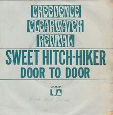 """CREEDENCE CLEARWATER REVIVAL SWEET HITCH-HIKER / DOOR TO DOOR RECORD INDIA 7"""" PS"""