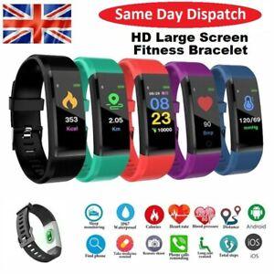 Smart Bluetooth Fitness Tracker Activity Running Sport Watch Fit-Bit Heart Rate