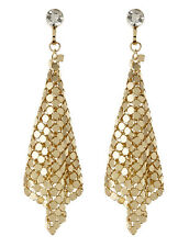 CLIP ON EARRINGS - gold drop earring with a clear stone - Daya G