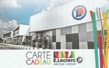CARTE CADEAU  GIFT CARD - LECLERC   AIRE sur ADOUR  nouveauté  unique (FRANCE)