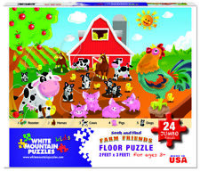 White Mountain Puzzles Farm Friends - 24 Piece Jigsaw Puzzle