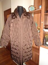 MAX MARA BROWN NYLON QUILTED DOWN TUFTED PUFFER COAT JACKET-M,12 UK