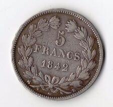 MONNAIE / ECU DE 5 FRANCS LOUIS PHILIPPE 1842 B @ ROUEN @ SILVER COINS @ PROMO !