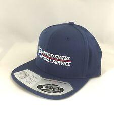 USPS Snapback Cap United States Postal Service Adjustable Hat 110 Flexfit Navy