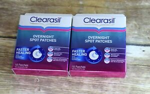(2) Clearasil Ultra Overnight Spot Patches 36 Count Total 2 PACKs of 18 Exp 4/21
