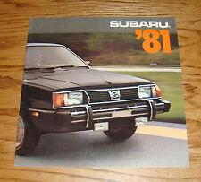 Original 1981 Subaru Full Line Sales Brochure 81 BRAT Hatchback Sedan Wagon