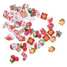 50pcs Assorted Cute Christmas Style RESIN FLATBACK Cabochons for DIY Crafts