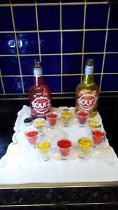 Set Of Ten Sourz Skull Plastic Shot Glasses BBQ Party Gift Halloween 25cl 3D 10x