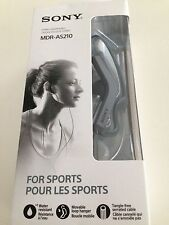 Sony MDR-AS210 Active Sports Earbuds Replaces MDRAS200 - Black - New Open Box