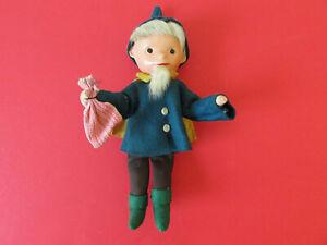 seltene DDR Sandmannpuppe Puppe Sandmann Figur mit Massekopf 1960er Jahre  (1)