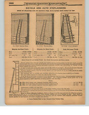 1927 PAPER AD Myers Cushion Tire Rolling Store Ladder Trolley Bicycle Ladders