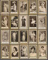 1900's ITC C240 Actresses Tobacco Cards Complete Set of 50
