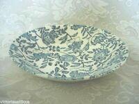 "Vintage CHURCHILL Peony Cobalt Blue 8"" Salad/Serving/Soup Bowl - Made in England"
