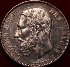1870 Belgium 5 Francs Silver Foreign Coin