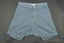 Y-3 YOHJI YAMAMOTO Adidas Blue DENIM Cotton Mens Luxury Shorts - MEDIUM