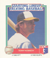 Terry Kennedy 1988 Kenner Starting Lineup Talking Baseball CARD ONLY