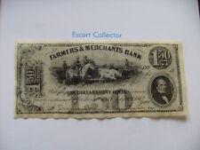 $1.50 - agricultores & Merchants Bank-un dólar y 50 C-Histórico Billete copia