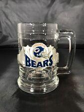Pewter Chicago Bears Logo Skyline Glass Beer Stein Mug