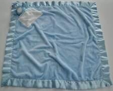 BABY GANZ Blue Plush Satin Bear Security Blanket Lovey