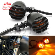 12V 5W Plastic Amber Motorcycle Grill Bullet Indicator Turn Signal Lights
