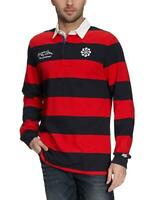 New Nike 1823 ACK Mens Long Sleeve Rugby Top Shirt Sz S M Red / Black jersey