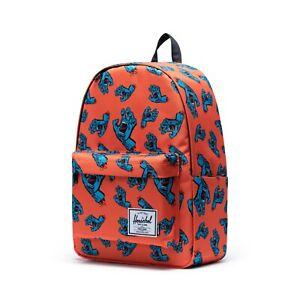 HERSCHEL Backpack Classic XL Santa Cruz Firecracker Orange Screaming Hand Laptop