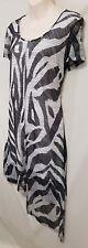Size XXS 12 TS TAKING SHAPE sleeveless split front asymmetric dress black white