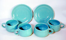 Vintage TURQUOISE California METLOX Poppytrail CUP SAUCER Lot VERNON Casual MUG